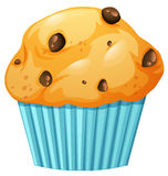Muffin in blue cup. Illustration royalty free illustration