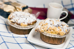 Muffin with Blueberry Royalty Free Stock Photos