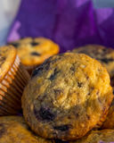Muffin - Blueberry. Muffins at the farmers market in Rochester Michigan stock photos