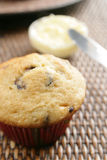 Muffin and butter Royalty Free Stock Images