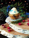 Muffin with butter cream Royalty Free Stock Images