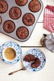 Muffin & caffè Immagini Stock Libere da Diritti