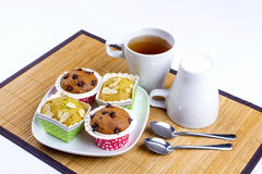 Muffin cake breakfast Stock Images