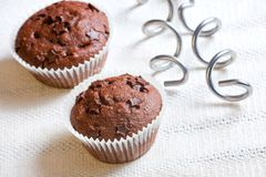 Muffin cake chocolate dessert Royalty Free Stock Photo