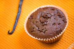 Muffin cake chocolate dessert Royalty Free Stock Images