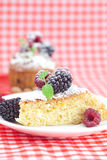 Muffin , cake with icing and berries Stock Photography