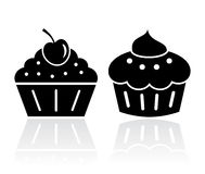 Muffin cake icon Royalty Free Stock Images