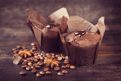 Muffin cakes with chocolate, Stock Photography