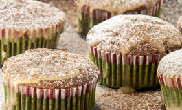 Muffin cakes with chocolate Royalty Free Stock Image