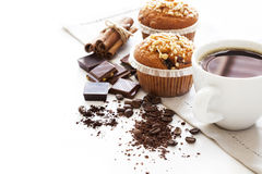 Muffin cakes with coffee Royalty Free Stock Photography