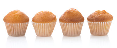 Muffin cakes on white Stock Photography