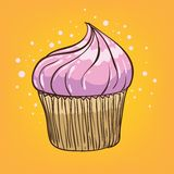 Muffin cartoon. Hand drawn vector illustration Royalty Free Stock Photos