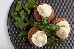 Muffin casalinghi al forno Fotografie Stock Libere da Diritti