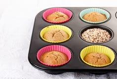 Muffin casalinghi della quinoa fotografia stock