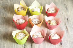 Muffin casalinghi della ricotta fotografia stock