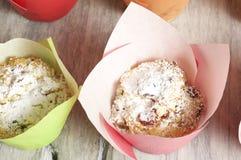 Muffin casalinghi della ricotta Immagini Stock Libere da Diritti