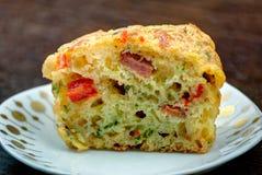 Muffin casalingo fresco della pizza Fotografia Stock