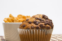 Muffin and cereals Stock Image