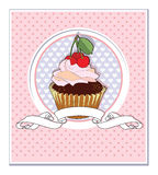 Muffin with Cherry Royalty Free Stock Photos