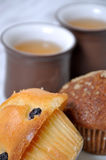 Muffin and chinese tea Stock Photos