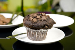 Muffin with Chocolate Royalty Free Stock Images