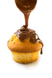 Muffin with chocolate Royalty Free Stock Photography