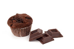 Muffin and chocolate Stock Photography