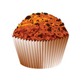 Muffin with chocolate cake. Vector object Royalty Free Stock Image