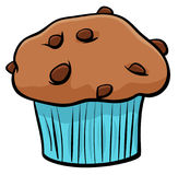 Muffin with chocolate cartoon object Royalty Free Stock Photos