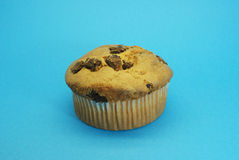 Muffin with chocolate centers royalty free stock photos