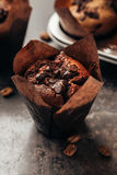 Muffin with Chocolate Stock Image