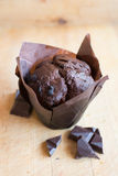Muffin - Chocolate cupcake Royalty Free Stock Photography