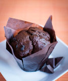 Muffin - Chocolate cupcake Royalty Free Stock Images