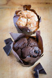 Muffin - Chocolate cupcake Royalty Free Stock Photo