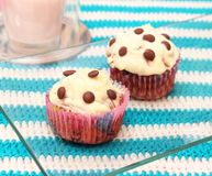 Muffin with chocolate Stock Photography