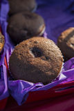 Muffin - Chocolate. Muffins at the farmers market in Rochester Michigan stock images