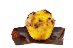 Muffin with chocolate sprinkles royalty free stock photography