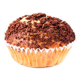 Muffin with chocolate sprinkles isolated on white background, ma Stock Photo