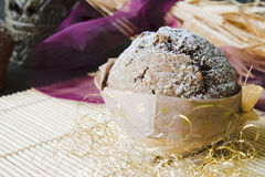 Muffin with Christmas decoration Royalty Free Stock Photo