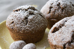 Muffin with Christmas decoration Stock Photos