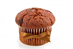 Muffin with cocoa and chocolate. One Muffin with cocoa and chocolate Stock Images