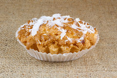 Muffin with coconut Royalty Free Stock Images