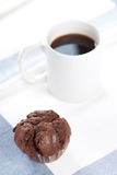 Muffin and cofee Stock Photo