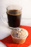 Muffin and coffee Royalty Free Stock Photos