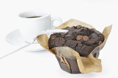 Muffin and Coffee Stock Photo