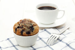 Muffin with coffee Stock Image