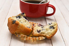 Muffin and Coffee Stock Image