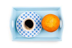 Muffin with coffee cup Stock Images