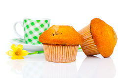 Muffin with coffee cup Stock Photo