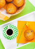 Muffin with coffee cup Royalty Free Stock Photos